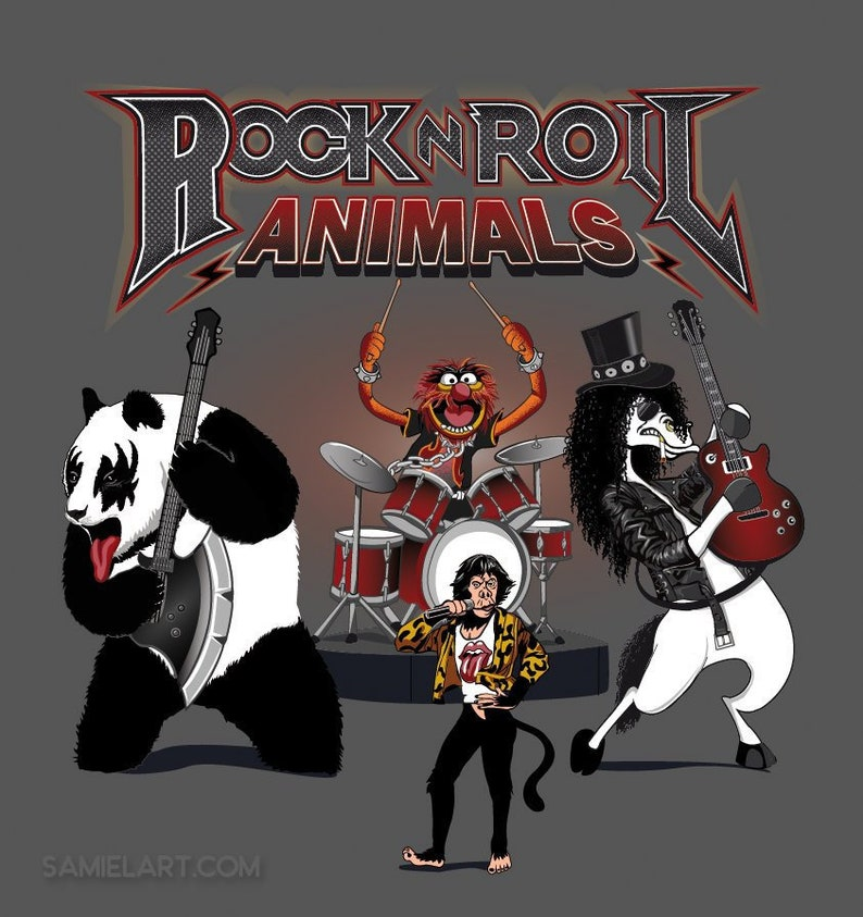 Rock and Roll Animals T-shirt / Rock Band image 0