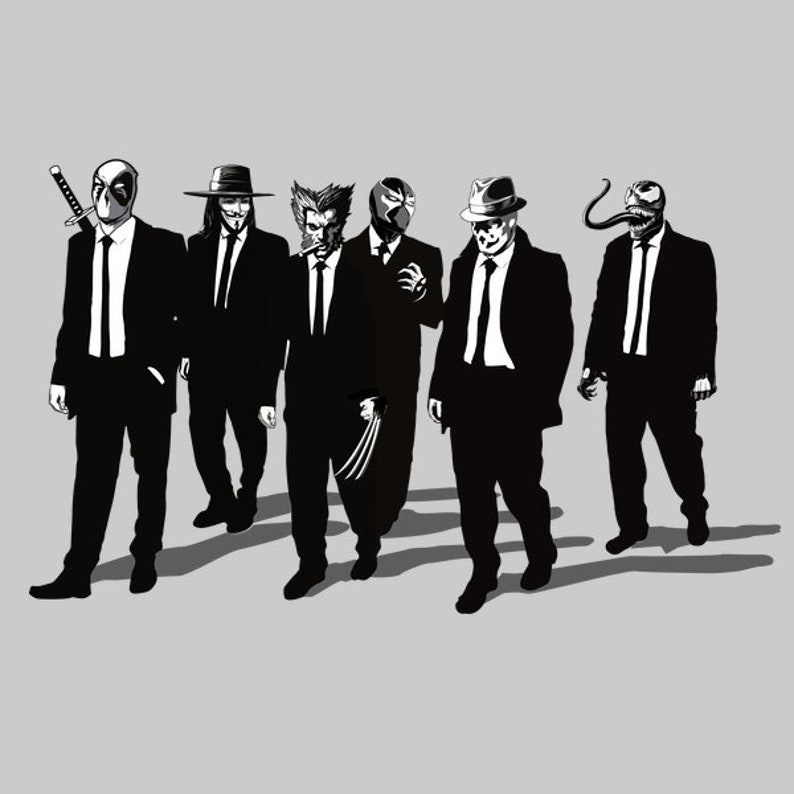 Comic Bad Dogs  Tee /   Reservoir Dogs T-shirt /  Comic Books image 0