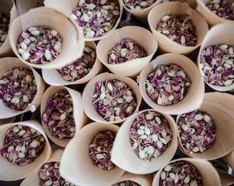 CONFETTI CONE KIT including Real Rose Petal Confetti in lots of colours! Beautiful, biodegradable wedding confetti and cones ...