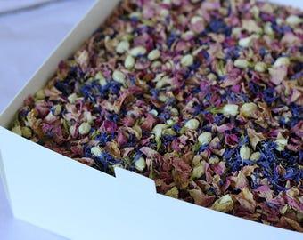 MEADOW - Real Rose Petal Wedding Confetti, Wild Flower Look