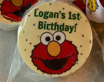 Elmo Edible Image Cookie Images Hard Candy Icing Cupcake Topper Cake Sugar Sheet Sesame Street Friends