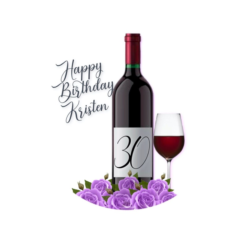 Oreo Cookie Image CAKE Topper Red Wine Birthday Edible Image Wine Glass Bridal Shower Cupcake Topper Tipsy Birthday Sugar Sheet