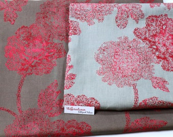 Couture fabric, Embroidered Linen Fabric with pattern, Linen fabric embroidered flowers, Linen fabrics large remnants, Remnants Linen fabric