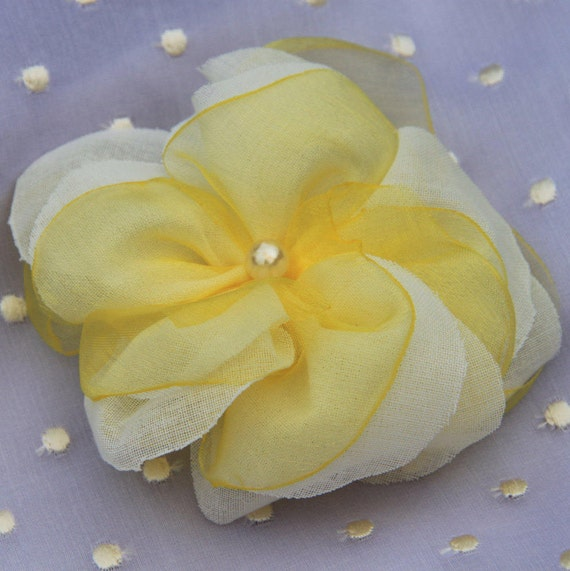White Flowers For Hair Wedding Yellow Hair Flower Wedding Flower Hair Clips For Weddings Flower Brooch Pin Bridal Flower Hair Clips