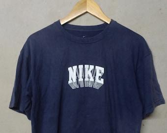 9337da0674fd Vintage Nike Block T-Shirt - Nike Block Large Size - Vintage Nike Shirt For  Men   Women - Make Me An Offer