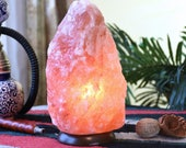 Himalayan Salt Lamp, 6 to 10 Lbs 100 Natural Rock Salt Lamp, Holiday Decor, Air Purifying Lamp- includes Flat Shipping and UL Dimmer cord