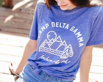 Camp Delta Gamma Tee / delta gamma shirt / greek gifts apparel / greek sorority t shirts
