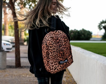 Leopard Print Greek Life Backpack   Leopard Print Sorority Backpack    Available for multiple organizations   Greek Gifts cbf9d034806ad