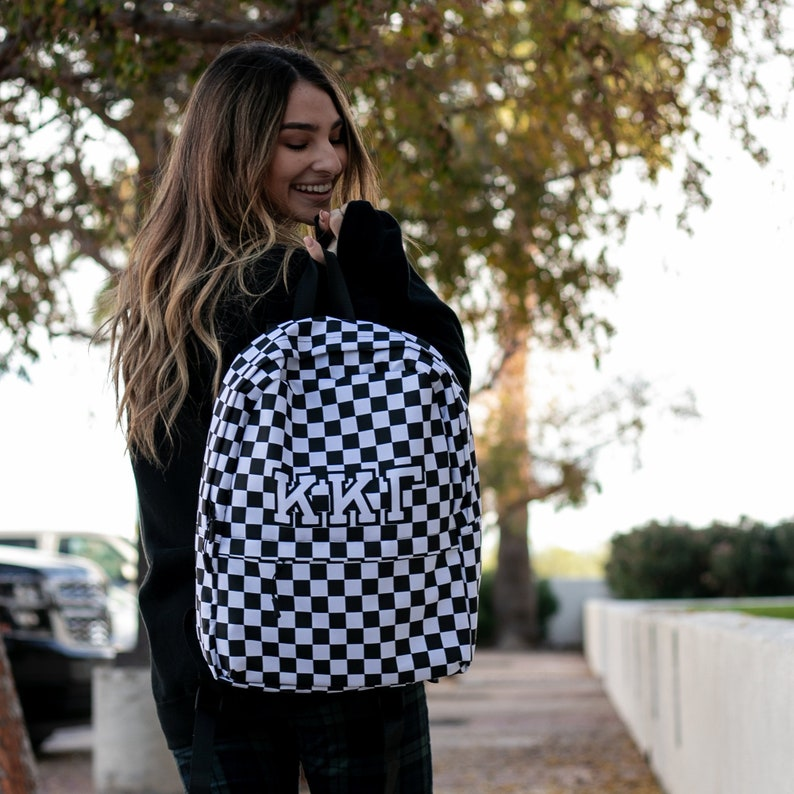 greek gifts Checkered Backpack  available for multiple organizations