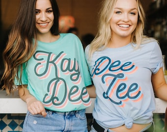 Color Pop Sorority Tee / available for multiple organizations! / greek gifts apparel / greek sorority t shirts