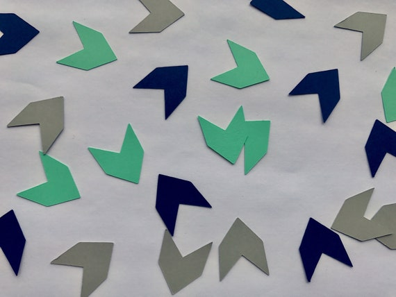 """150 pieces Boy /""""Wild One/"""" 1st Birthday Over Sized Table Confetti Die Cuts"""