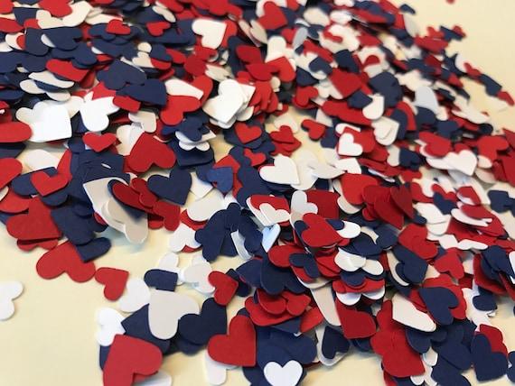 Mini Red White And Blue Heart Confetti Patriotic Etsy