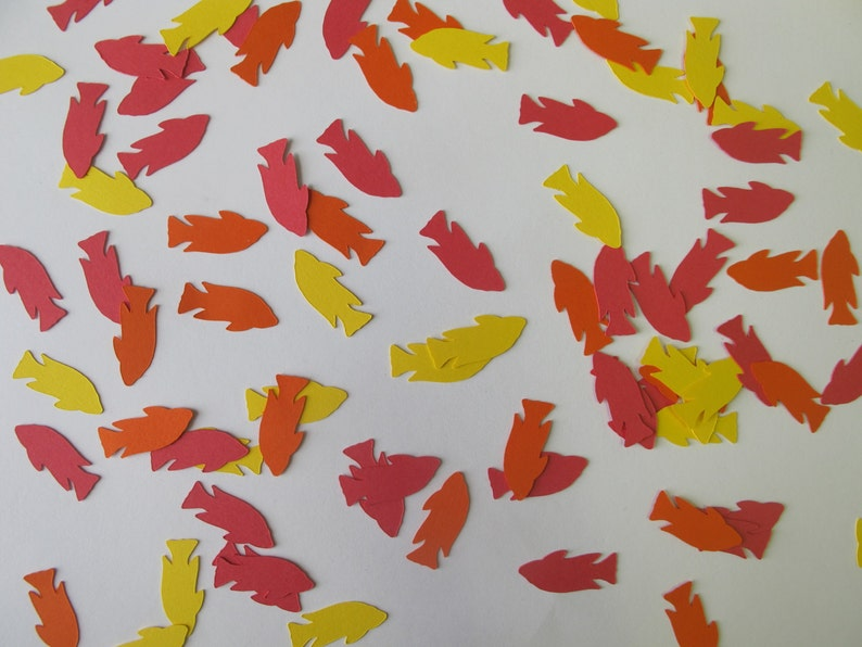 Red Orange And Yellow Fish Confetti Fish Party Decorations Etsy