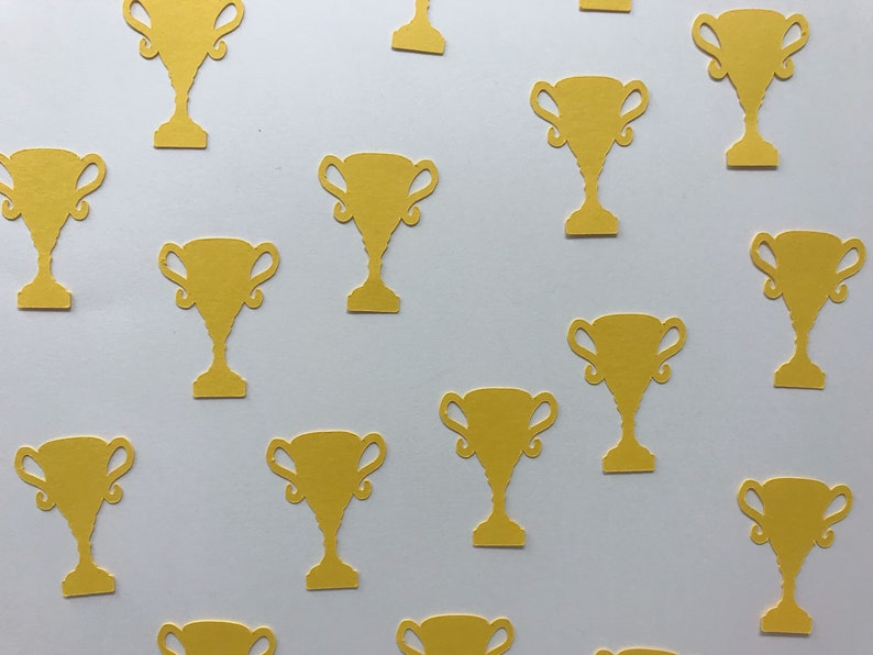 Trophy Decorations Compeition Decorations Golden Yellow Trophy Confetti Winner Decor First Place Decorations