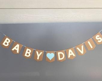Custom Baby Name Banner - Baby Shower Banner - Gender Reveal Banner - Baby Name Banner - Custom Name Banner - Baby Banner - Baby Shower