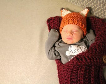 Baby fox hat