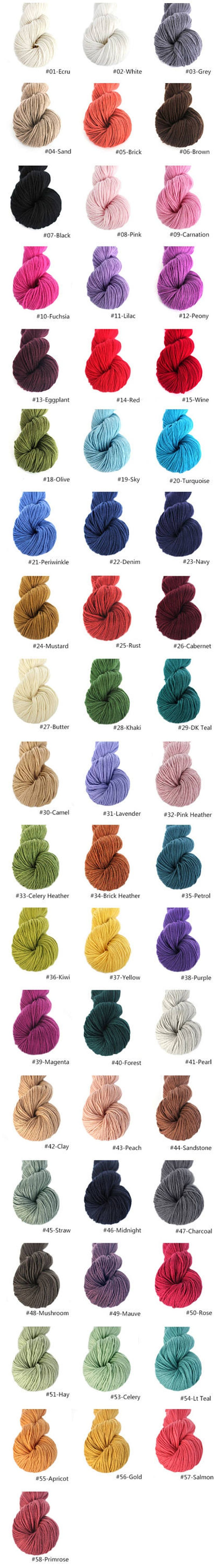 Lot 5,6,7,8,9 piece 100/% Mongolian Cashmere DK weight for Hand knitting mid thick yarn