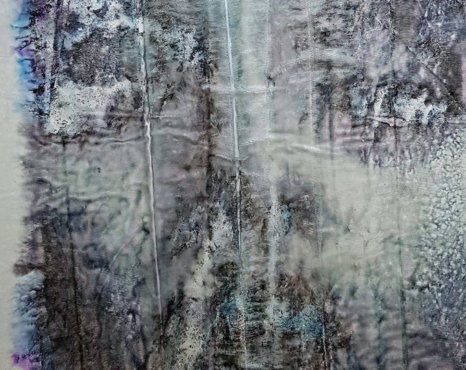 On the mirror (n.354) - 58,00 x 71,50 x 2,50 cm - ready to hang - mix media painting on stretched canvas