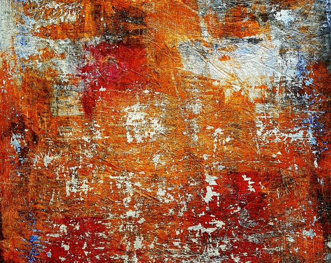 NOT AVAILABLE !!! - Orange city (n.280) - 75 x 90 x 2,50 cm - ready to hang - acrylic painting on stretched canvas