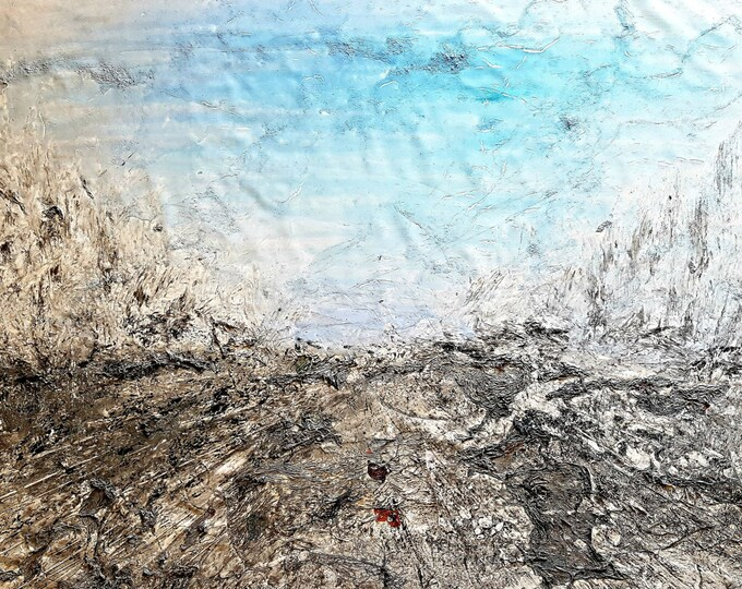 NOT AVAILABLE !!! - Go straight on your way (n.274) - 90 x 65 x 2,50 cm - ready to hang - acrylic painting on stretched canvas
