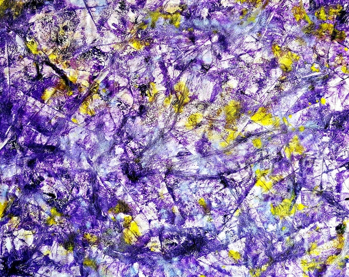 Purple shines (n.271) - 85 x 65 x 2,50 cm - ready to hang - acrylic painting on stretched canvas