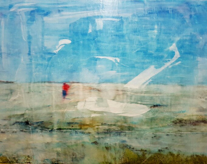 Alone (n.305) - 77 x 59 x 2,50 cm - ready to hang - mix media painting on stretched canvas