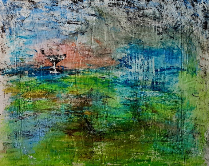 Towards balance (n.361) - 90,00 x 75,00 x 2,50 cm - ready to hang - acrylic painting on stretched canvas