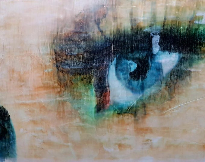 I still love you... (n.308) - 93 x 60 x 2,50 cm - ready to hang - mix media painting on stretched canvas