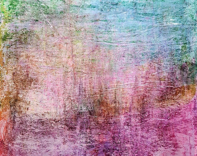 An unknown place (n.349) - 85,00 x 95,00 x 2,50 cm - ready to hang - acrylic painting on stretched canvas