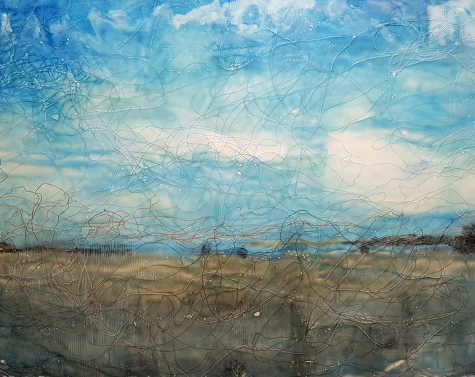 Pescara (n.315) - 85 x 52 x 2,50 cm - ready to hang - mix media painting on stretched canvas