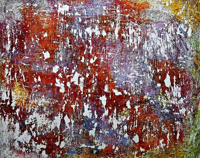 Faded memories (n.286) - 90 x 80 x 2,50 cm - ready to hang - acrylic painting on stretched canvas
