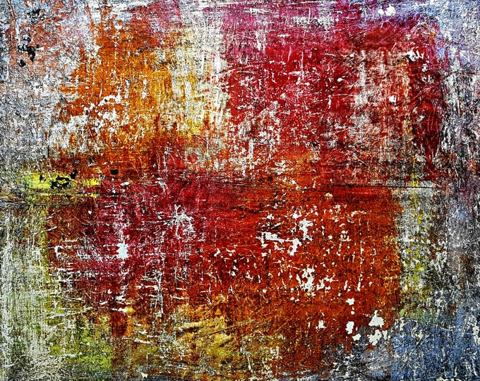 I'll solve it! (n.284) - 90 x 80 x 2,50 cm - ready to hang - acrylic painting on stretched canvas