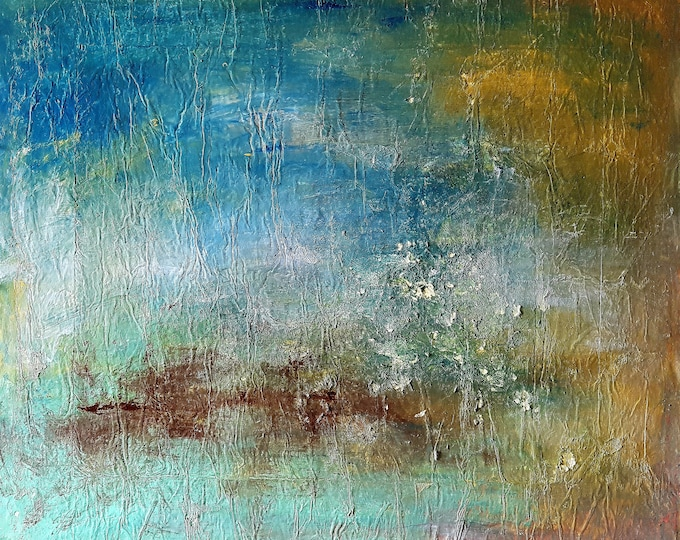 Idillio (n.350) - 95,00 x 82,00 x 2,50 cm - ready to hang - acrylic painting on stretched canvas