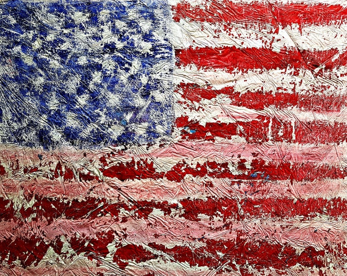 U.S.A. (n.250) - 95 x 69 x 2,50 cm - ready to hang - acrylic painting on stretched canvas