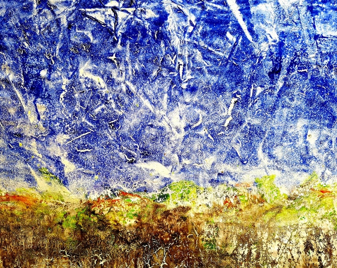 Bethlehem (n.269) - 90 x 65 x 2,50 cm - ready to hang - acrylic painting on stretched canvas