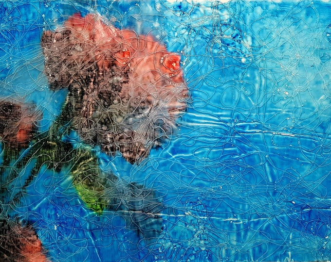 Freedom (n.314) - 82 x 50 x 2,50 cm - ready to hang - mix media painting on stretched canvas