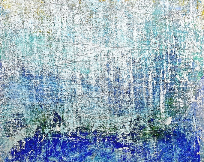 Finding a safe port (n.345) - 95,00 x 90,00 x 2,50 cm - ready to hang - acrylic painting on stretched canvas