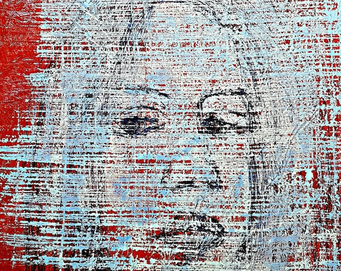 Sarah (n.282) - 60 x 80 x 2,50 cm - ready to hang - acrylic painting on stretched canvas