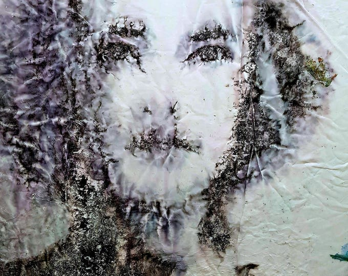 Giovanna (n.352) - 51,00 x 71,00 x 2,50 cm - ready to hang - mix media painting on stretched canvas