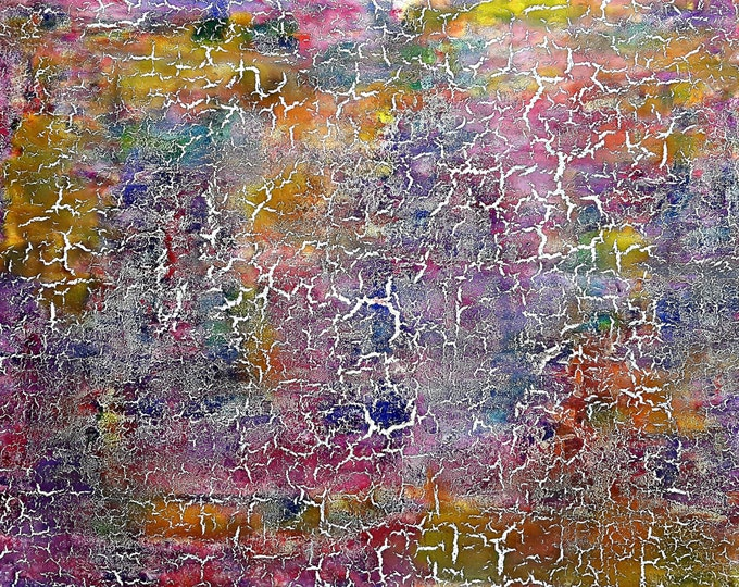 Amour craqué (n.278) - 90 x 75 x 2,50 cm - ready to hang - acrylic painting on stretched canvas