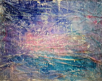 Have a good evening (n.241) - 80 x 60 x 2,50 cm - ready to hang - acrylic painting on stretched canvas