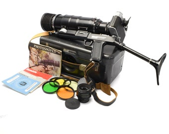 ZENIT-ES 35mm Photo Sniper Camera with TAIR 3 PhS 300mm f/4.5 & Helios 44-2 Lens