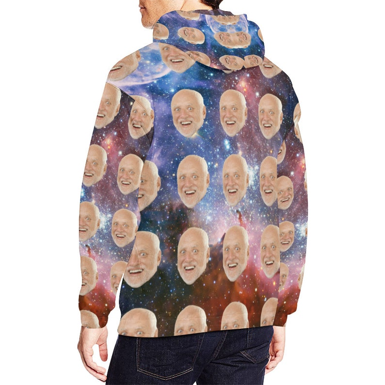 Funny Gift Put Your Face on Custom Hoodie Custom Hoodie Photo Face Print in Galaxy Style Personalized Hoodie Make Your Own Hoodie
