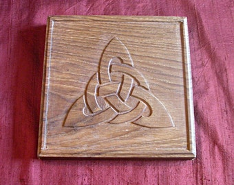AR it hornog: woodcarving - Wood carving / Celtic tracery - Celtic knotwork