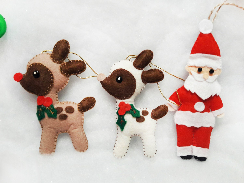 Fieltro adornos navideños fieltro patrones animales fieltro | Etsy