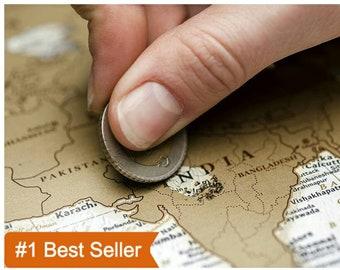 Scratch Off World Map, Travel Map, Scratch Off Map, Scratch Off Push Pin Travel Map, Scratch World Map, Scratch Travel Map, World Map Poster