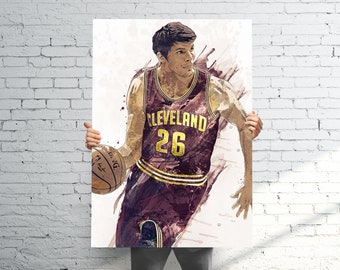 7ea09fce0 Kyle Korver Cleveland Cavaliers - Sports Art Print Poster - Watercolor  Abstract Paint Splash - Kids Decor - Gifts for Men - Man Cave