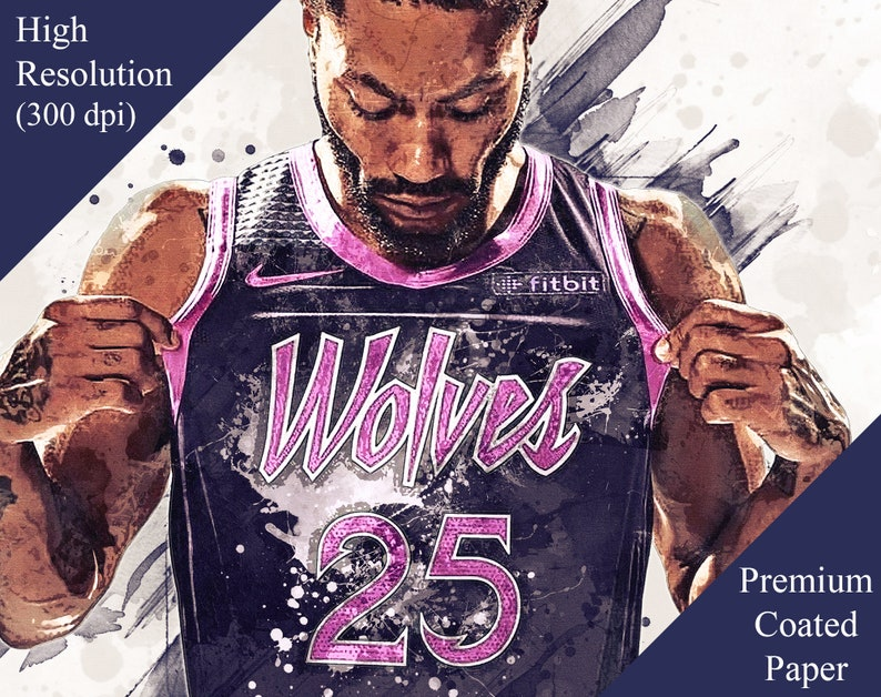 722ebbff7 Derrick Rose Minnesota Timberwolves Purple Rain