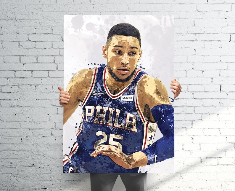 4ae0ddd28 Ben Simmons Philadelphia 76ers Sports Art Print Poster