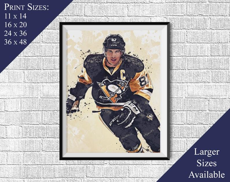 c7d18993c Sidney Crosby v4 Penguins de Pittsburgh Sports Art Print